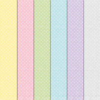 "Craft Creations Scrapbook Paper White Polka Dots Pastel Colours 12"" x 12"" 120gsm"