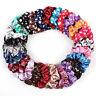 Multicolor Elastic Dot Floral Satin Scrunchies Hair Ring Rope Hair Accessories G