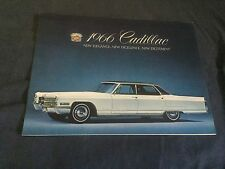 1966 Cadillac Fleetwood Eldorado DeVille Calais Color Brochure Catalog Prospekt