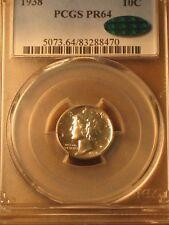 1938 Proof Mercury Dime 10c Cent - PCGS PR64 CAC