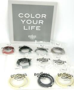 10pc Jennifer Lopez ENDLESS Jewelry Multi Color Leather Wrap Charm Bracelets ~