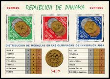 ✔️ PANAMA 1964 - OLYMPIC GAMES INNSBRUCK GOLD - MI.BLOCK 28A ** MNH [PNB028Ab]