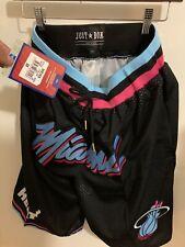 Miami Heat Vice City M&N Black Stitched Basketball Shorts Size Medium