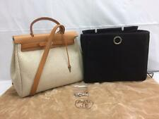 Hermes Her bag 2 way Black & White Canvas Bag Without Lock 8C240040n