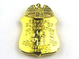US FBI BADGE MONEY CLIP DEPARTMENT OF JUSTICE BADGE CLIP