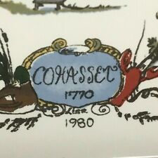 New listing Cohasset Massachusetts Harbor Scene 6x6 Handmade Locally Ceramic Tile Trivet