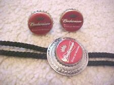With Matching Cuff Links Vintage Budweiser Adv. Bolo Tie