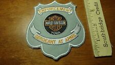 SERGEANT AT ARMS POLICE MOTORCYCLE PATROL  MOTORCYCLE ROCKER BLUE KNIGHTS BX L 6