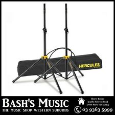 Hercules SS200B Heavy Duty Speaker Stands Pair with Carry Bag Case