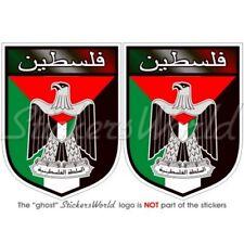 Palestine Écusson État Palestinien, 75mm Vinyl Sticker, Autocollant x2