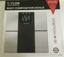Brand New In Box Taylor Body Composition Scale America's Leading Bath Scale F/S