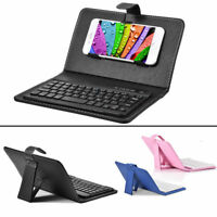 Wireless Bluetooth Keyboard + PU Leather Stand Case Filio Cover for iOS Android