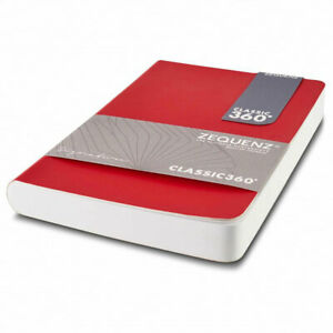 Zequenz Notebook Signature Lite Soft Cover A6, Squared, Red 360-SNJ-A6-LITE-RDG