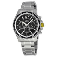 Invicta Specialty Classic Black Band Chronograph & Date Mens Watch