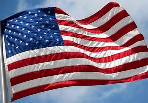 USA 3x5 Embroidered Outdoor Heavyweight Fade Proof Tough Durable 210D Nylon Flag
