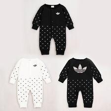 2019 Baby Girl Polka Dots Long Sleeve Romper Jumpsuit Bodysuit Babygrows Clothes
