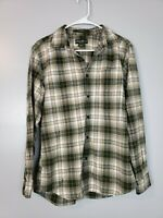 Eddie Bauer Men's Button Down Shirt Size Small S Flannel Plaid Relaxed Fit Green