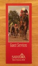2018 Saratoga Race Course Guest Services Brochure, Gun Runner