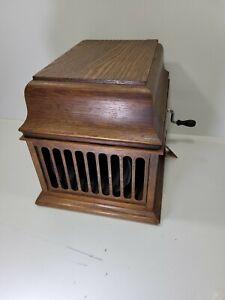 Vintage 1920's Thomas Edison Amberola 30 Cylinder Phonograph and Does Work