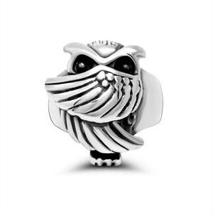 Lucky Owl Ring for Men Women Stainless Steel Angel Wings Eagle Rings Biker Punk