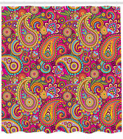 Shower Curtain Paisley Fancy Colorful Authentic Patterns 70 Inches Long