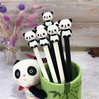 2Pcs/Set Kawaii Cartoon Cute Panda Gel Pens Stationery Black 0.5mm Gel Ink Pens