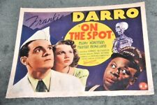 "7 ORIGINAL LOBBY CARDS FROM THE 1940 FILM "" ON THE SPOT """