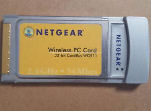 NETGEAR 54 Mbps Wireless PC Card 32 Bit CardBus WG511T Rangemax