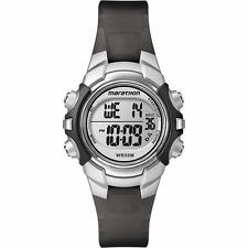Ladies Timex Marathon Indiglo Digital Alarm Black Rubber Sports Watch T5K805