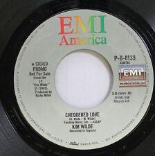 Rock Promo Nm! 45 Kim Wilde - Chequered Love / Chequered Love On Emi America