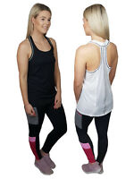 LADIES EX FAMOUS STORES SPORTS VEST GYM RUNNING TRAINING BLACK OR WHITE M&5 M S