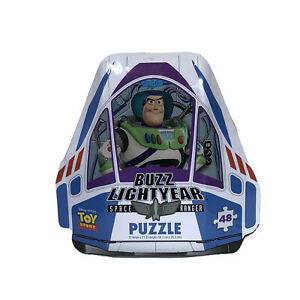 Disney Pixar Toy Story Buzz Lightyear Space Ranger Tin With 48-Piece Puzzle