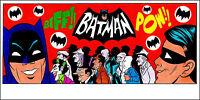 BATMAN 1966 TV SERIES ART PRINT 8.5 x 17 by PATRICK OWSLEY! ADAM WEST BURT WARD!