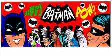 """BATMAN 1966 TV SERIES COLOR ART PRINT 8 1/2"""" x 17"""" - by PATRICK OWSLEY! SIGNED!"""