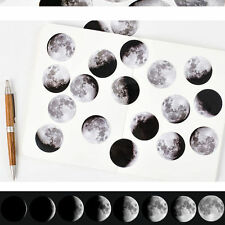 45Pcs Cute Little Moon Paper Decoration Sticker for DIY Craft Diary Scrapbooking