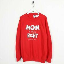 Vintage Gildan Nouveauté Graphique Mom Est Toujours Grand Logo Sweat Rouge L