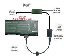 External Laptop Battery Charger for Toshiba Satellite P500, Qosmio X500, PA3729U