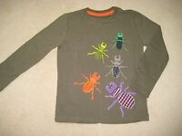 Mini Boden Print & Applique T Shirt Top Beetles Insects 1-5-12 years Khaki