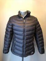 L L Bean Ultralight 850 Goose Down Jacket Coat Puffer Womens Sz L Black