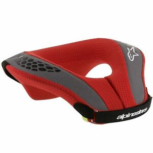 2021 ALPINESTARS YOUTH NECK ROLL BRACE BLACK RED KIDS JR MOTOCROSS MX BMX MTB
