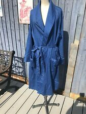 """EXTRA LARGE XL 100% COTTON BLUE DRESSING GOWN MARKS & SPENCERS 44"""" - 46"""" CHEST"""