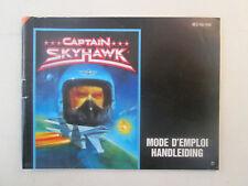 Nintendo NES - Captain Skyhawk NES-YW-FAH - Manual Only