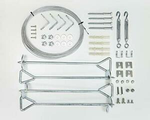 Palram Anchor Kit for Nature Series Greenhouses Silver