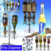 Wall Mounted Bottle Stand Wine Drink Cocktail Beer Dispenser Shots Bar Butler US
