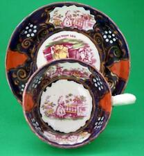 Queen Victoria Gaudy Welsh Pottery Royal Commemorative Cup and Saucer