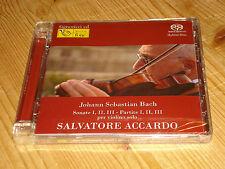 Audiophile Bach Partitas and Sonatas for Solo Violin ACCARDO FONE 2 SACD NEW SS