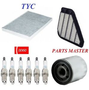 Tune Up Kit Filters Spark Plug For CHEVY TRAVERSE V6 3.6L 2011-2013, 2015-2017