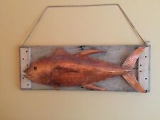 Yellowfin Tuna Coastal Beach House Copper Metal Wall Art Sculpture Game Fish 065