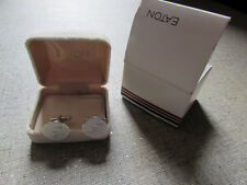Eaton Cuff Links Monogram B CANADA 1994 Rare New in Box Eaton's Department Store