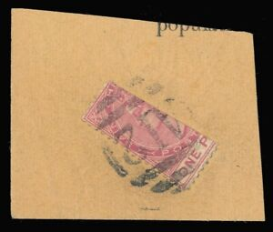 St Kitts-Nevis 1884 QV 1d carmine-rose BISECTED (½d) VFU - UNPRICED! SG 13a.